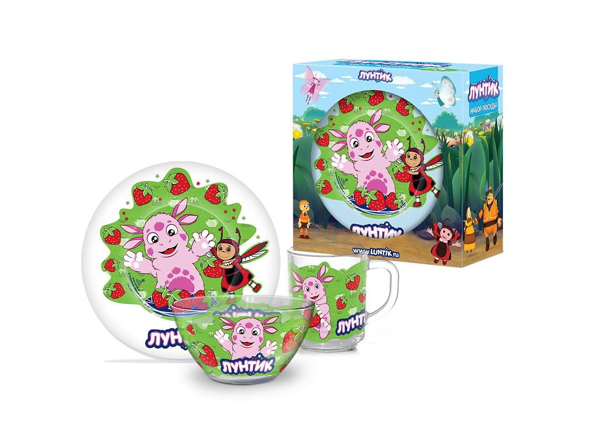 Картинка - Набор детской посуды Priority КРС-803 Лунтик КРС-803